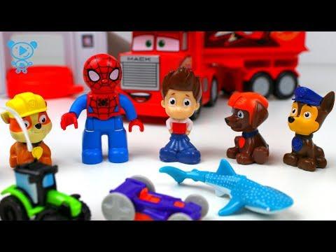 Paw Patrol & Spiderman Toys Cartoon - Paw Patrol & Spiderman unbox kinder surprise eggs toy for kids