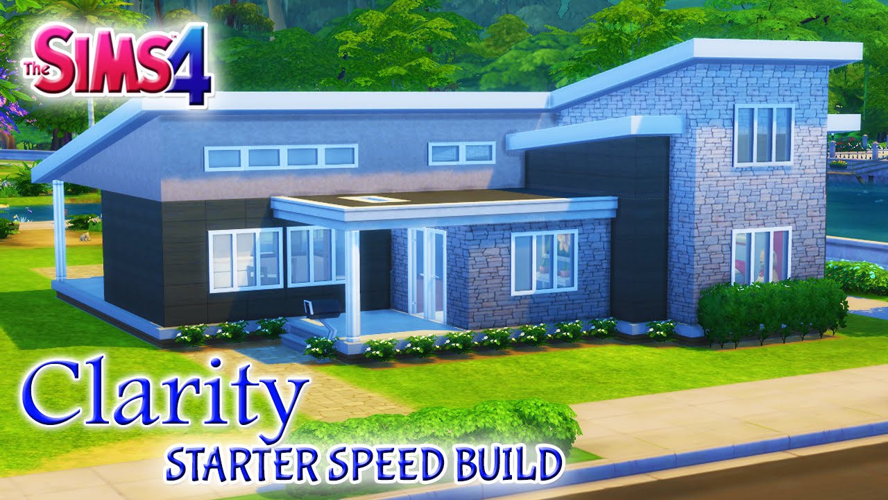 Sims 4 House Build: Modern Clarity 2 Bedroom Starter Home - YouTube