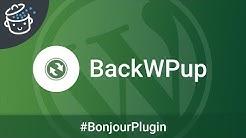 Bonjour Plugin #15 🔌 - BackWPup, le plugin de sauvegarde WordPress