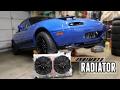 Mishimoto Fan Shroud & Dual Core Radiator Install    Turbo Miata Build (Part 5)