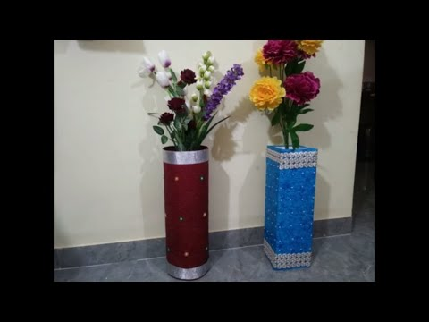 Diy - How to Make Flower Vase From Thermocol || Thermocol Decoration Craft At Home