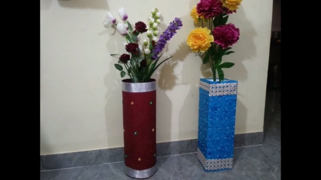 Diy How To Make Flower Vase From Thermocol Thermocol Decoration