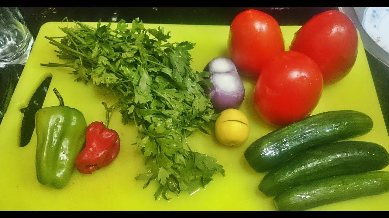 سلطة خضراء اطيب سلطه رجيم بمكون سري Fresh Delicious Green Salad Youtube