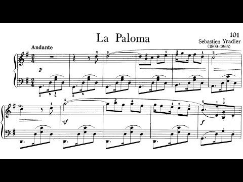 Piano Pieces for Children Grade 3 No.25 Yradier La Paloma (P.101) Sheet Music