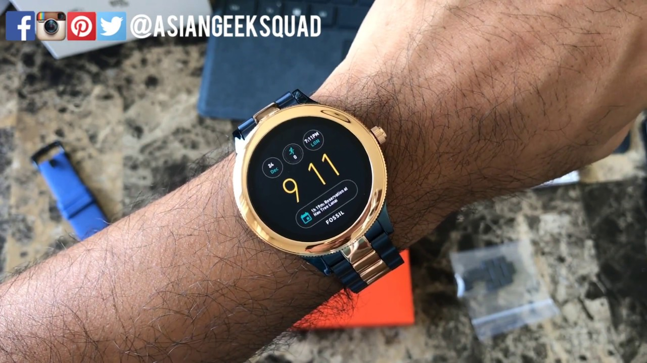 f6713814 Fossil Q Venture - 3rd Gen - Unboxing and Setup - Android Wear Smartwatch!