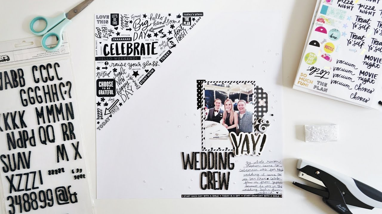 Wedding Scrapbook Layout Process Video Using A Ton Of Planner