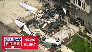 Man Flies Plane into Own Home - LIVE COVERAGE