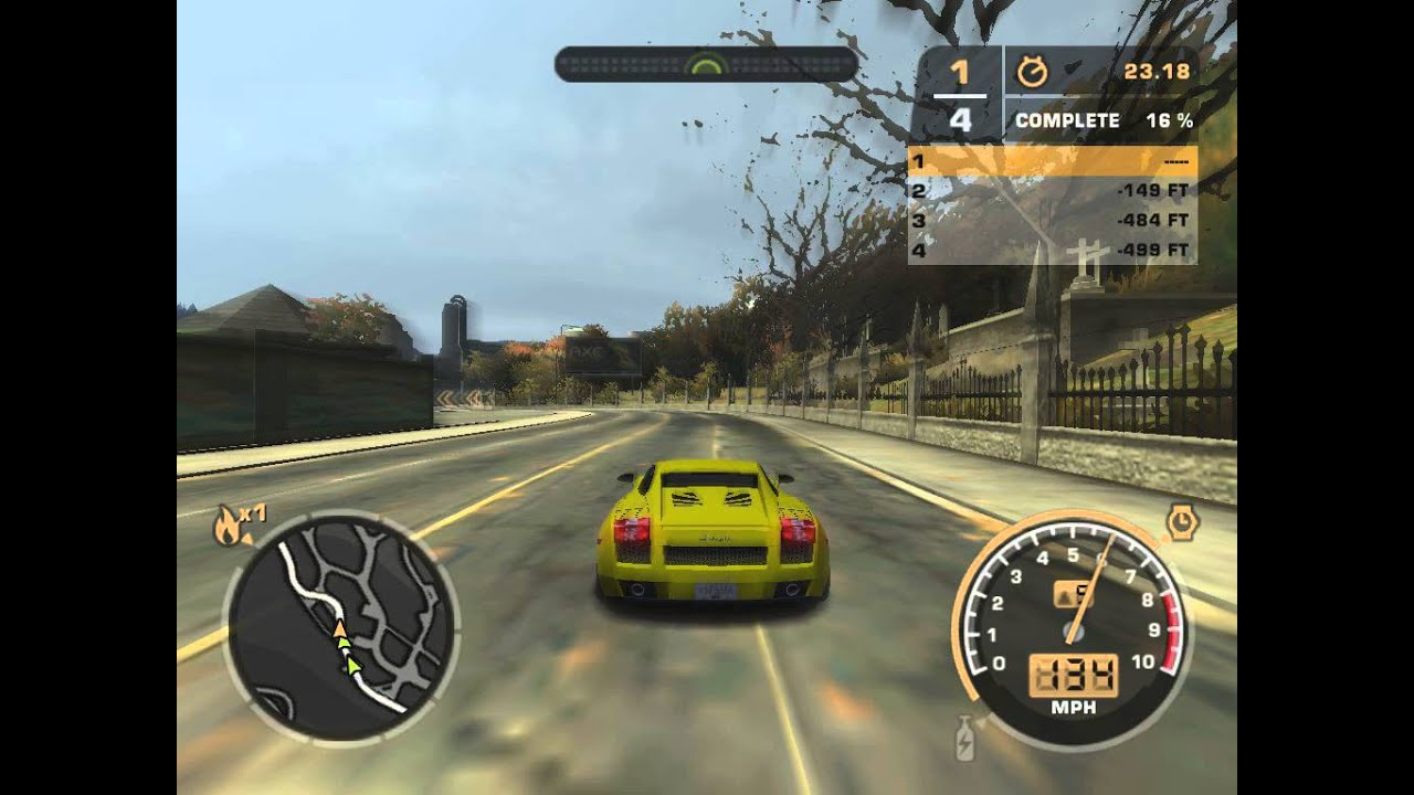 NFS Most Wanted 2005 on AMD Radeon HD 6310 Graphics