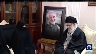المرشد الإيراني علي خامنئي يزور منزل قاسم سليماني ويعزي عائلته