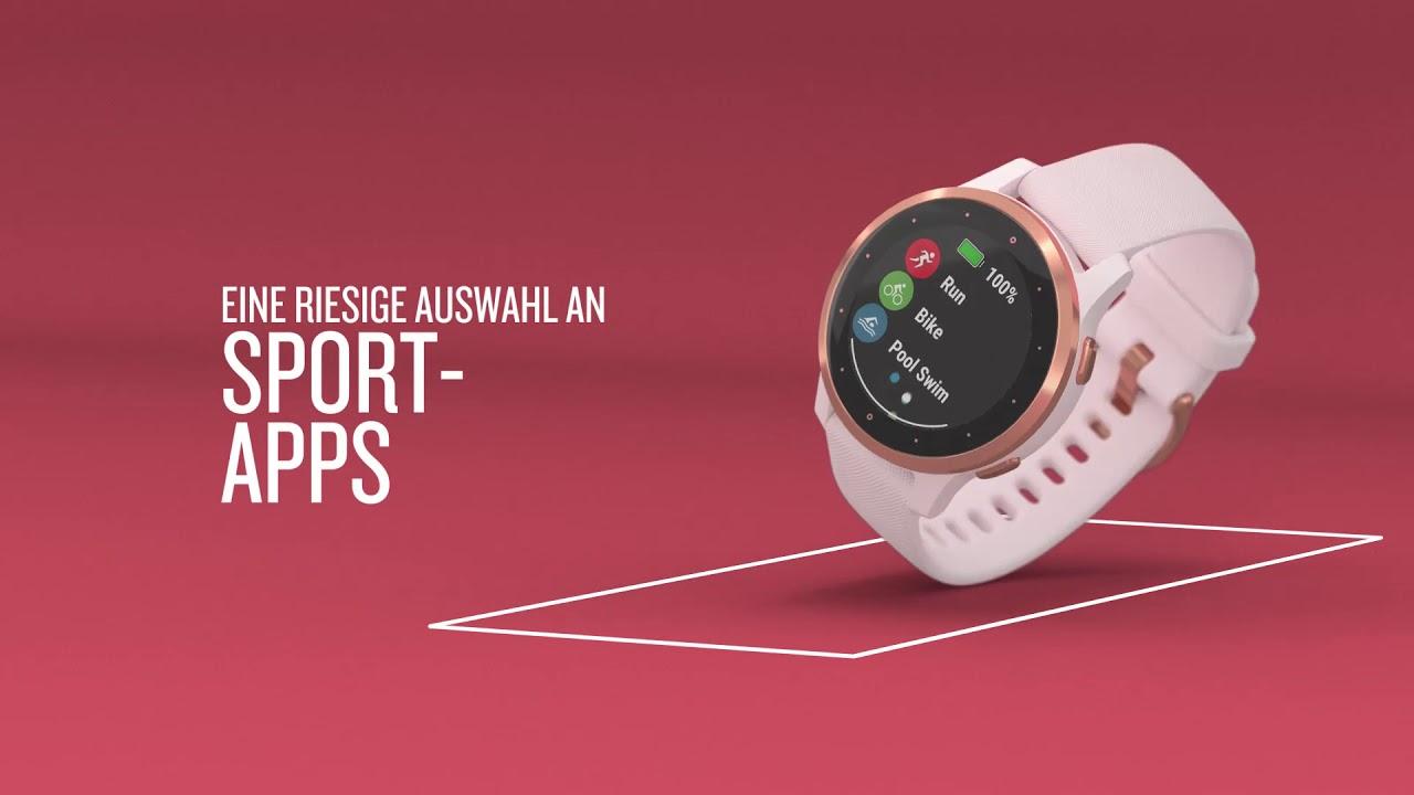 Garmin 010-02172-22 vivoactive 4s GPS Fitness Smartwatch White/Rose Gold