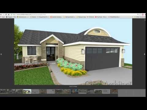 Chief architect drawing a small 3d house