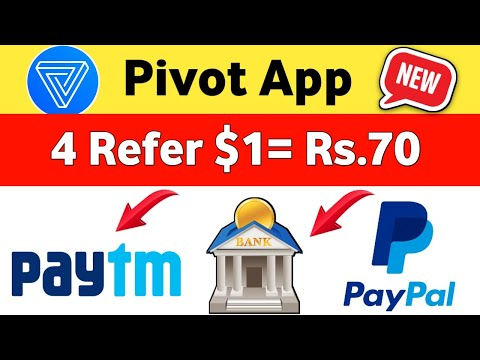 Pivot app Refer 4 Friend Rs.70 Transfer Paytm, PayPal,Bank Account