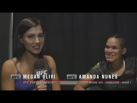 UFC 200: Amanda Nunes Backstage Interview