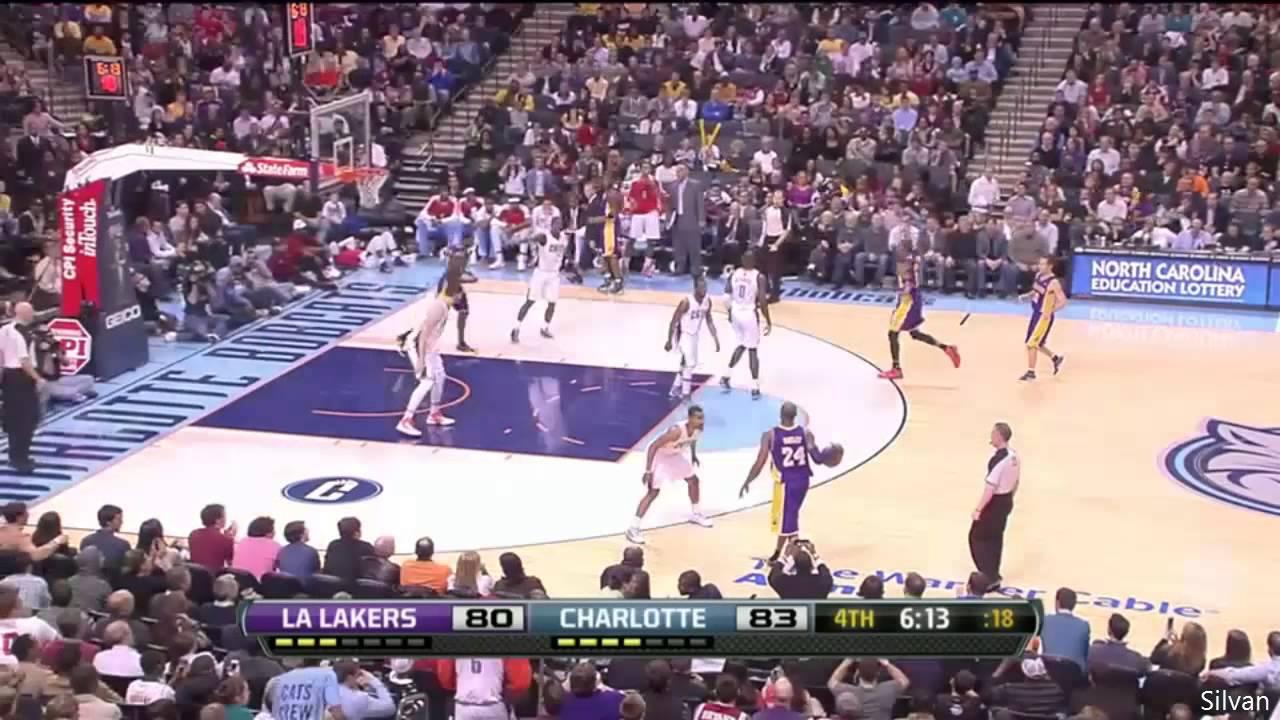 Kobe Bryant 20 Points   Charlotte Bobcats - 08 02 2013 - YouTube 8cbf09b58