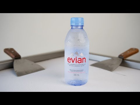 EVIAN MINERAL WATER ICE CREAM ROLLS | How to make Water Ice Cream | ASMR