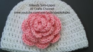 How to crochet a Rose (English Video)