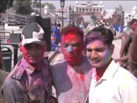 25 March, 2016 - Indian, Pakistani troops exchange sweets on Hindu festival of Holi