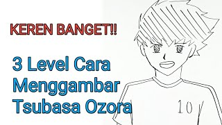 3 Level Cara Menggambar Tsubasa Ozora / 3 Ways How To Draw Tsubasa Ozora