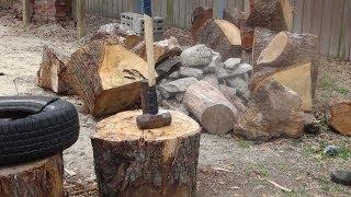 Splitting Firewood April 2014