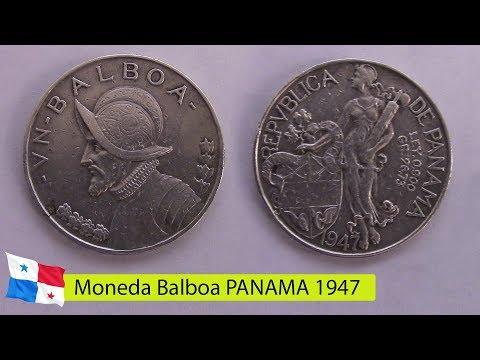 Moneda Balboa PANAMA 1947 numismatica