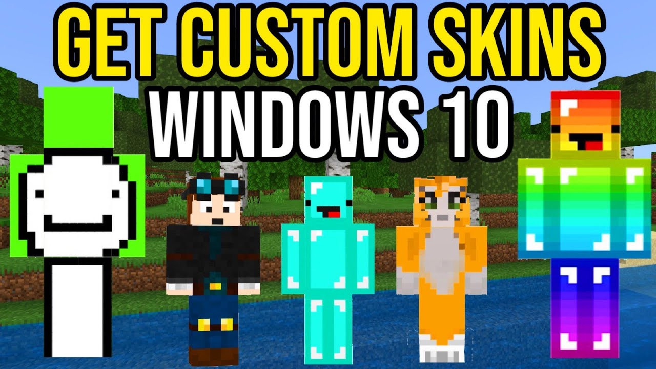 How To Get Custom Skins In Minecraft Windows 10 Youtube