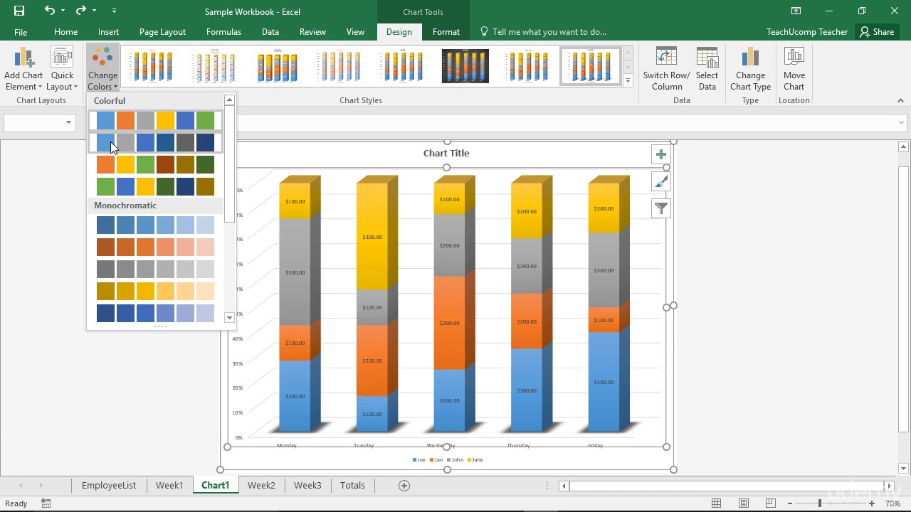 Change color of lines in excel graph - How To Change Color Schemes In Excel