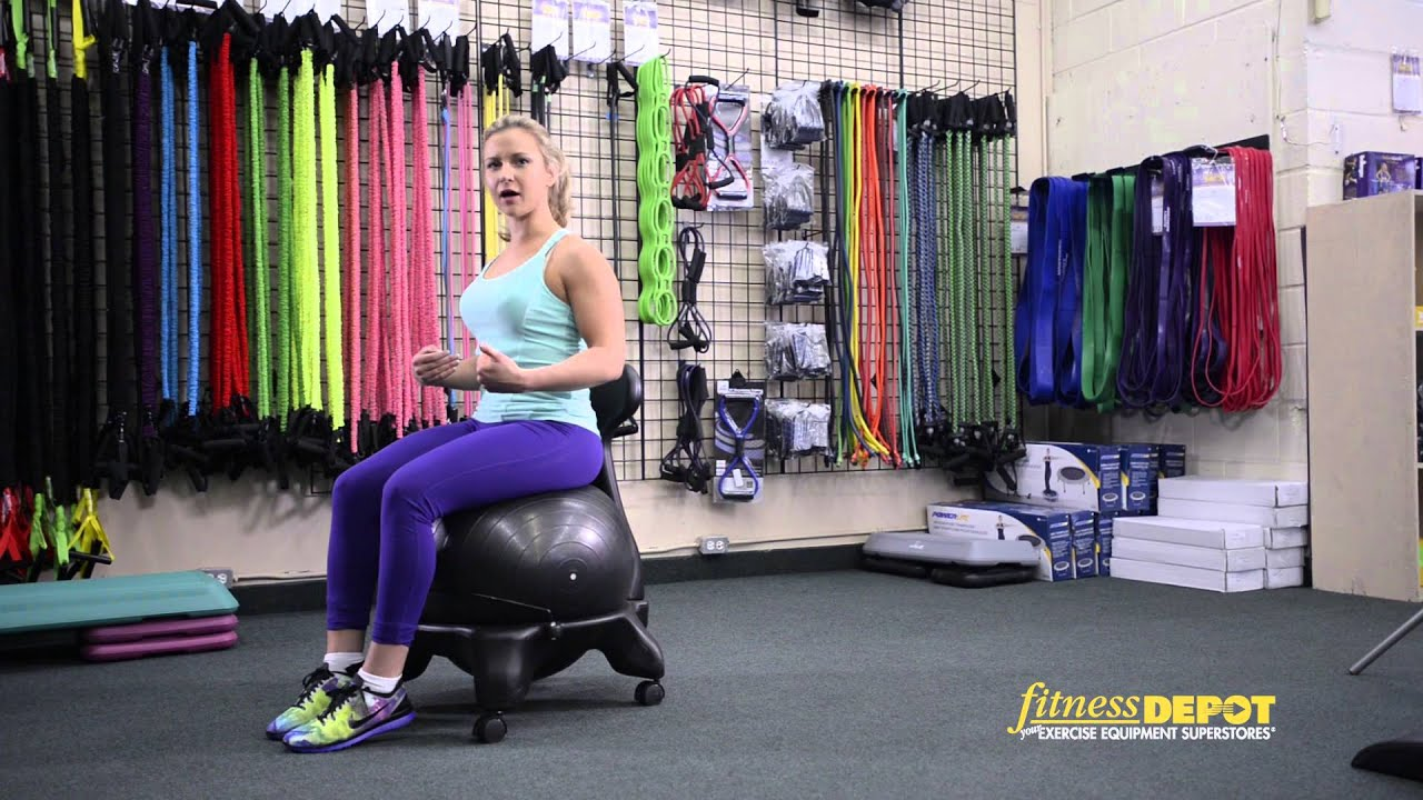 Fit Ball Chair - YouTube