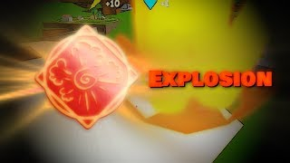 Esplosione vetrina magica e gameplay Campi di battaglia degli Elementali di Roblox