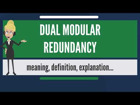 What is DUAL MODULAR REDUNDANCY? What does DUAL MODULAR REDUNDANCY mean?