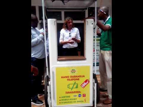 Demo of mobile solar kiosk