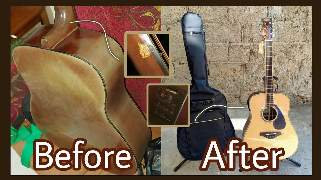 Full Video of Restoring an Old Acoustic Guitar   OSH