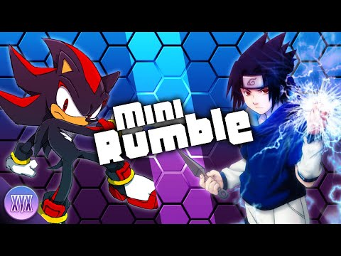XVX | Mini Rumble | Shadow The Hedgehog VS Sasuke Uchiha | Sega X Shonen Jump
