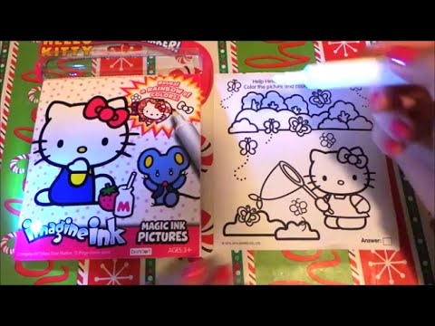 Hello Kitty Imagine Ink Magic Pictures Unboxing and First