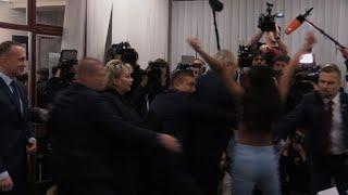 Czech president casts his ballot 'against Femen' after attack
