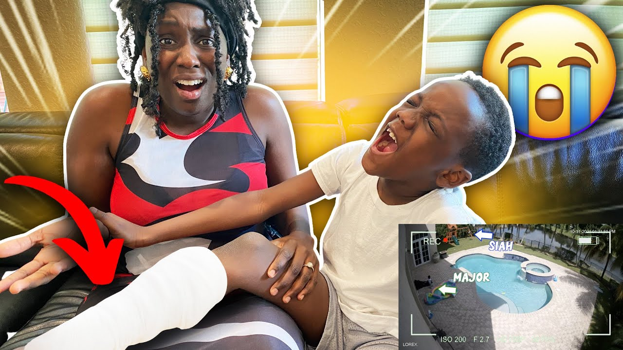 BOY Injured His Leg Trying To SAVE Baby Brother *Caught On Camera*