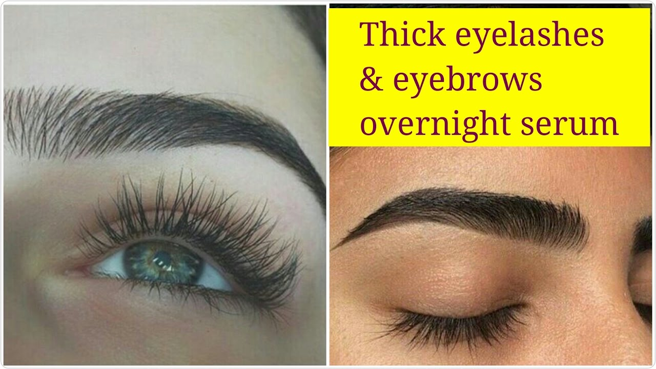 How To Get Thick Dark Eyelashes Eyebrows Naturally Natural Big