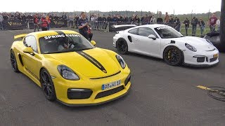 Porsche Cayman GT4 vs GT3 RS