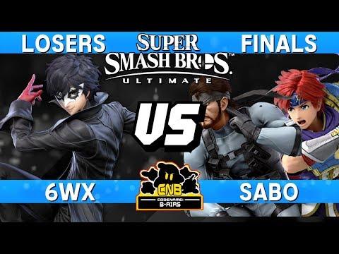 Smash Ultimate Tournament Losers Finals - 6WX (Joker) vs Sabo (Snake / Roy) - CNB 185