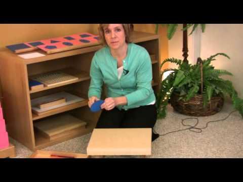 Montessori Language Lesson - Metal Insets