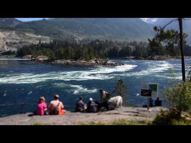 Skookumchuck Narrows / Sechelt Rapids - Sunshine Coast BC (ebb tide)