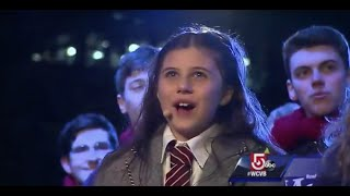 Mia Sinclair Jenness and Sharon High School Select Choir perform at Boston's Holiday Lights