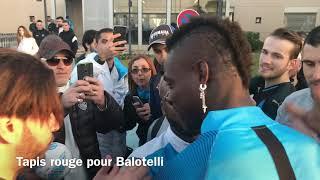 Départ des Olympiens pour Rennes tapis rouge pour Balotelli