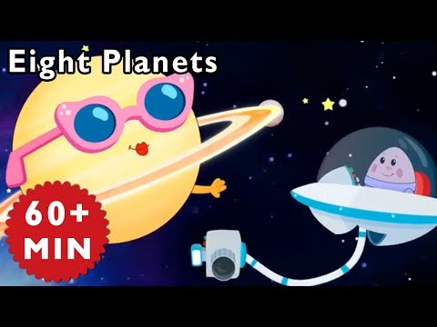 Learn Planets | ANIMATED EIGHT PLANETS SONG and more songs by Mother Goose Club | Songs for Kids