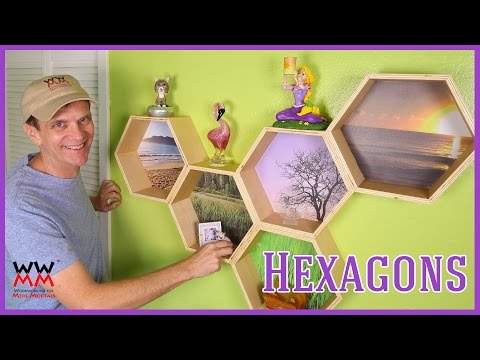Funky Hexagon Honeycomb Wall Shelves | WWMM ART & DESIGN