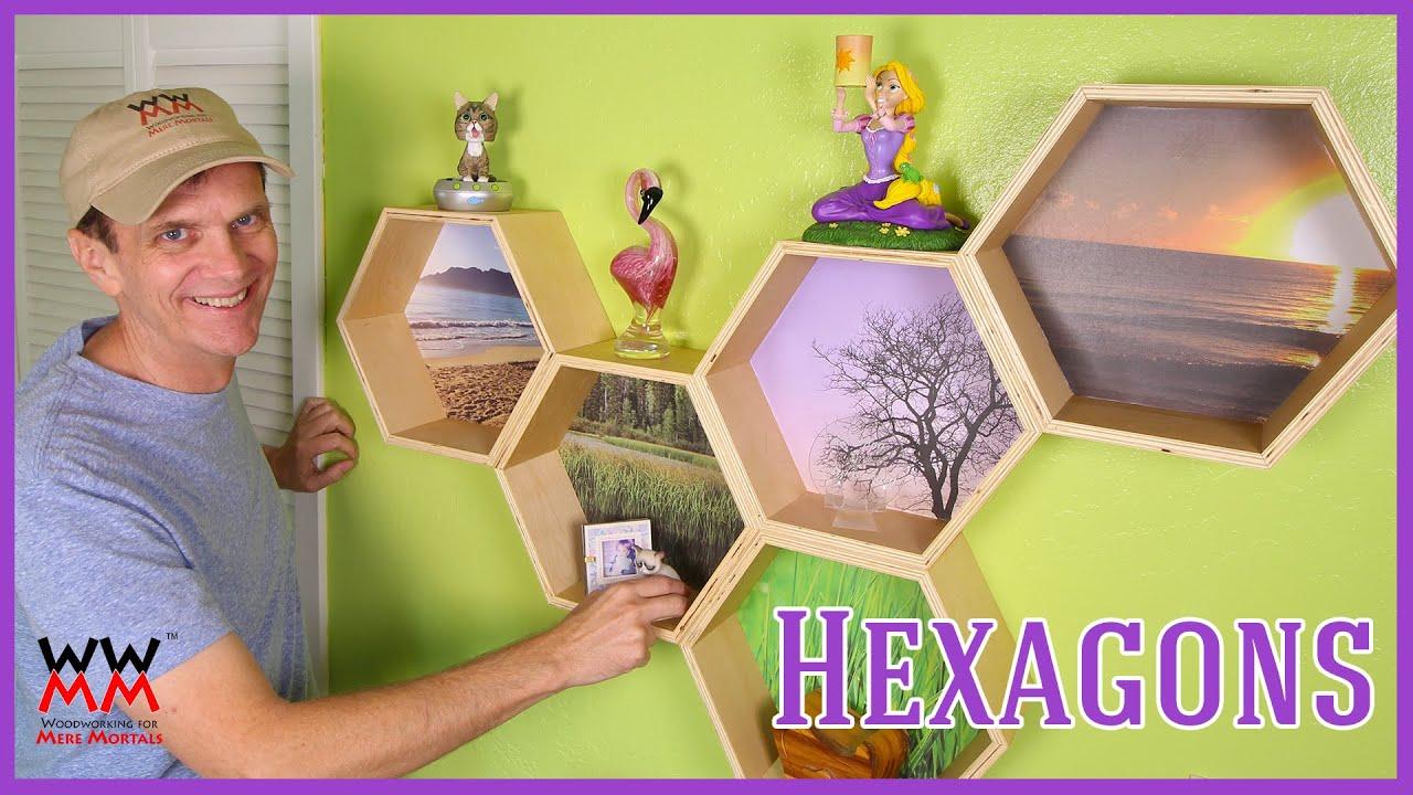 Funky Hexagon Honeycomb Wall Shelves   WWMM ART & DESIGN - YouTube