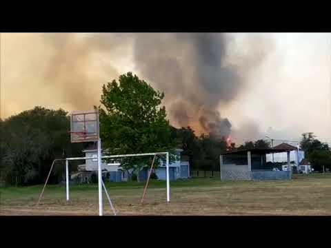 Un voraz incendio en Seona causa alarma en Monforte