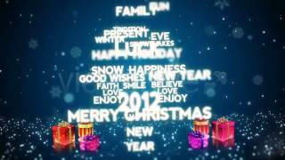Christmas / New Year Flying Words After Effects template