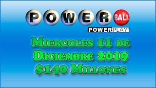 Gambar cover Resultados Powerball 11 de Diciembre del 2019 $140 Millones de dolares