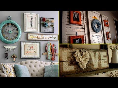 ❤DIY Shabby chic style Wall Art and room decor I  Home decor & Interior design 2017  Flamingo Mango❤