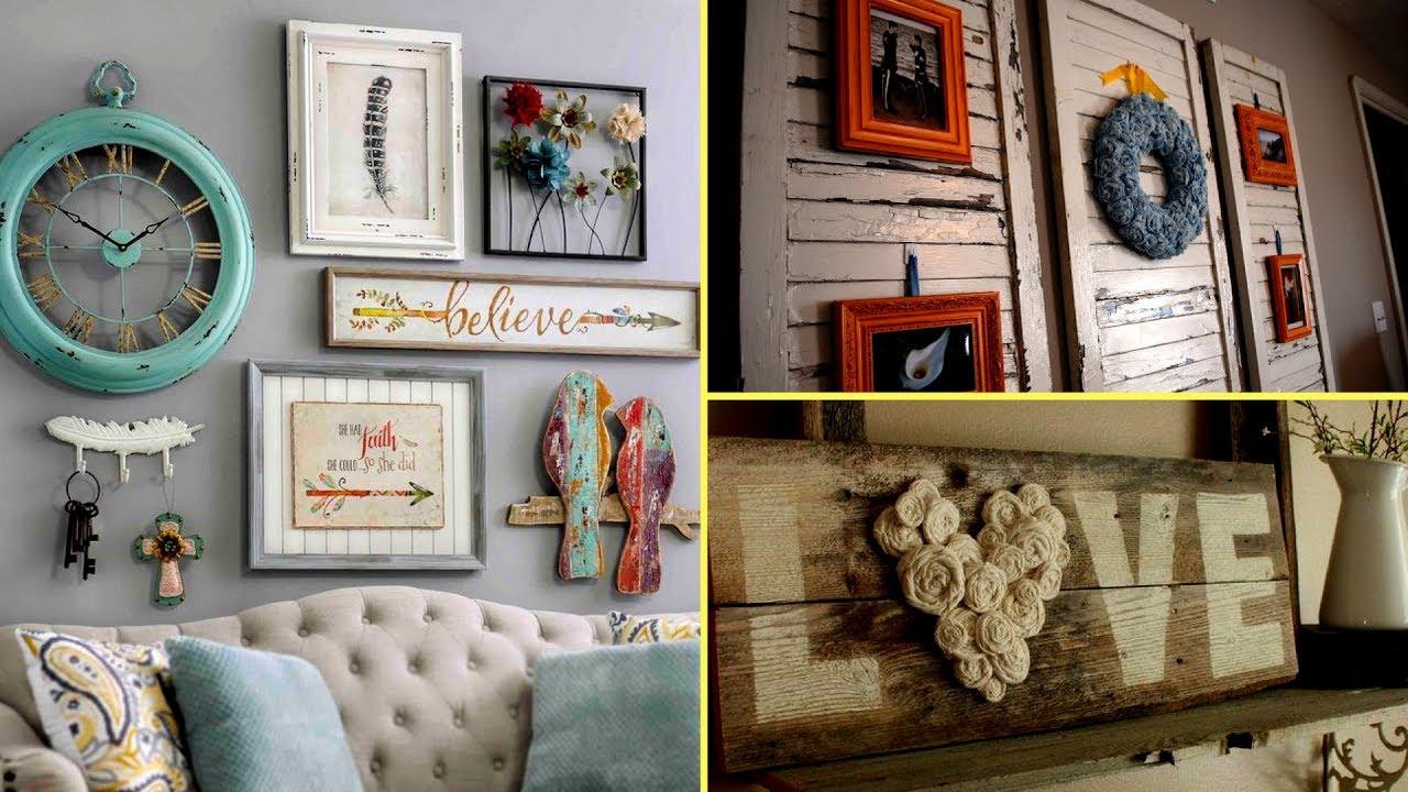 DIY Shabby chic style Wall Art and room decor I Home decor ...